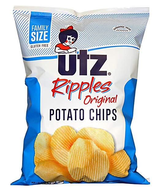 Utz Ripple Chips, Regular, Ripple Regular, 9.5 oz. Bag
