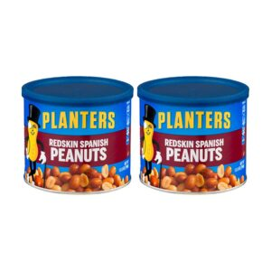 Planters Redskin Spanish Peanuts with Sea Salt 12.5oz Can (Pack of 2)
