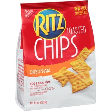 Ritz Toasted Chips - Cheddar (pack of 4)