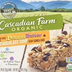 Cascadian Farm Organic Chewy Granola Bars - Peanut Butter Chocolate Chip - 6.24 oz - 8 ct