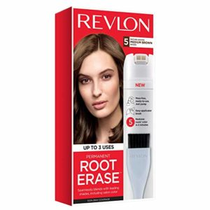 Revlon Root Erase Permanent Hair Color, Root Touchup Hair Dye, Medium Brown, 3.2 Fluid Ounce