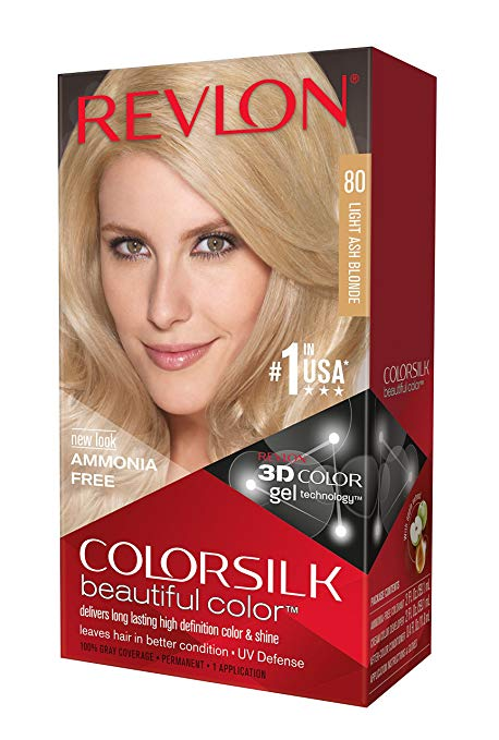 Revlon Colorsilk Haircolor, Light Ash Blonde, 10 Ounces (Pack of 3)