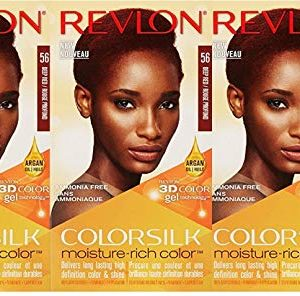 Revlon Colorsilk Moisture Rich Hair Color, Deep Red No.56, 3 Count