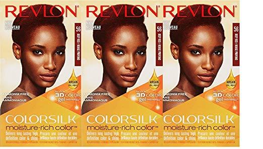 Revlon Colorsilk Moisture Rich Hair Color, Deep Red No.56, 3 Count