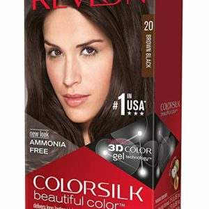 Revlon ColorSilk Hair Color, 20 Brown Black 1 ea(Pack of 3)