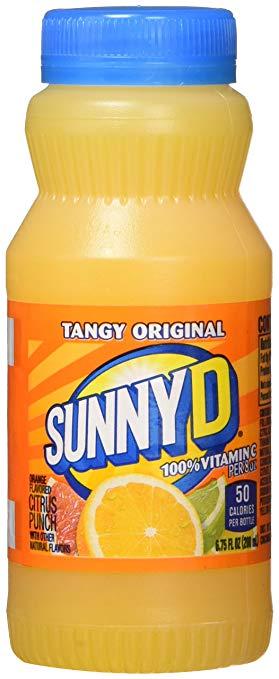 SunnyD Tangy Original Orange Flavored Citrus Punch, 6.75 Fluid Ounce, 24 Count