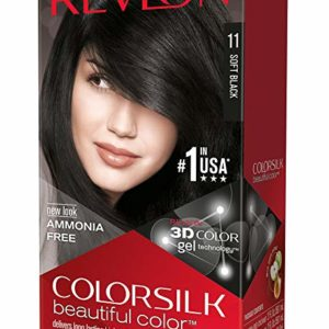 Revlon ColorSilk Beautiful Color, Soft Black [11] 1 ea ( Pack of 3)