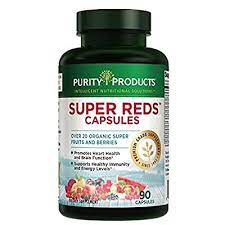 Super Reds Formula (20+ Organic Super Fruits & Berries) | Purity Products | Heart & Brain Health Support* | Supports Healthy Immunity and Energy Levels* | 90 Capsules