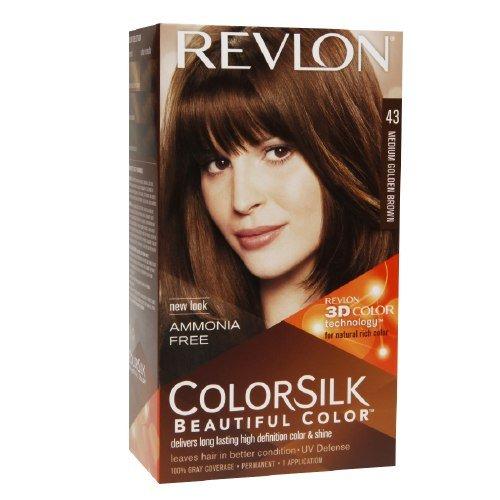 Revlon Colorsilk Beautiful Color, Medium Golden Brown 43 1 ea (Pack of 1)