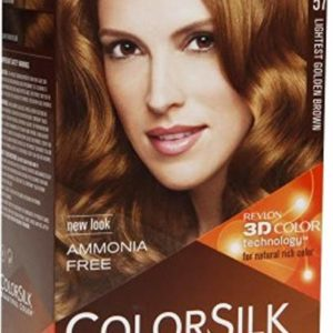 Revlon ColorSilk Beautiful Color Permanent Hair Color, 57 Lightest Golden Brown 1 Each