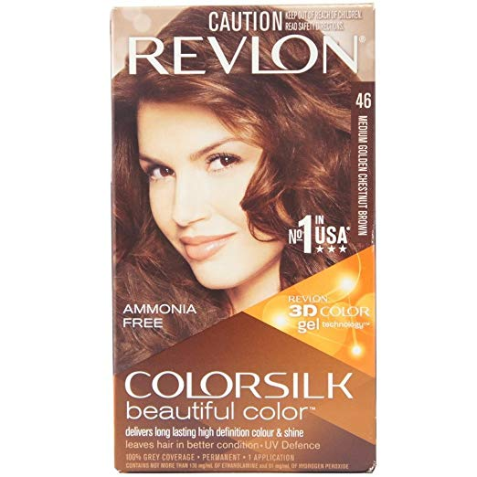 Revlon ColorSilk Beautiful Color, Medium Golden Chestnut Brown