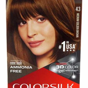 Revlon Colorsilk Hair Color, Medium Golden Brown [43] 1 ea (Pack of 3)