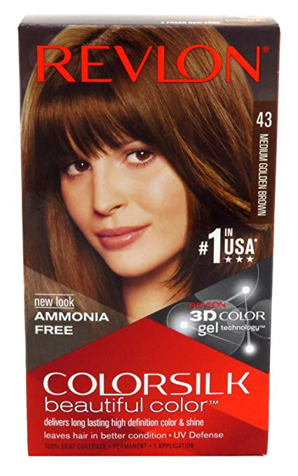 Revlon Colorsilk Hair Color, Medium Golden Brown [43] 1 ea (Pack of 3)