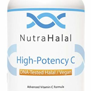 NutraHalal Advanced Vitamin C Formula - Halal DNA Tested High Potency Vitamin C for Men, Women and Children – 120 Count