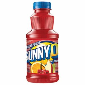 Sunny Delight Fruit Punch Beverage, 16 Ounce Bottle, Pack of 12