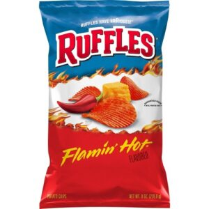 Ruffles Flaming Hot Potato Chips - 8.5oz Party Bag