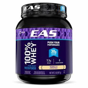EAS 100% Pure Whey Protein Powder, Vanilla, 2 lb