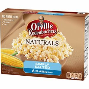 Orville Redenbacher's Naturals Simply Salted Microwave Popcorn, 6-Count