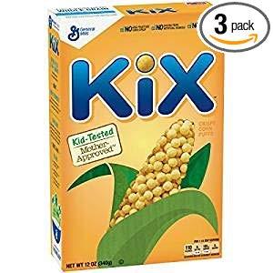 General Mills Kix Crispy Corn Puffs No Artificial Flavors 12 Oz. Pk Of 3.