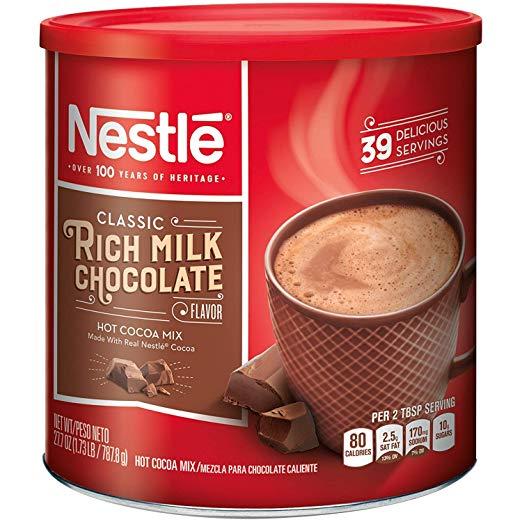 NESTLE HOT COCOA Mix Rich Milk Chocolate Flavor 27.7 oz.