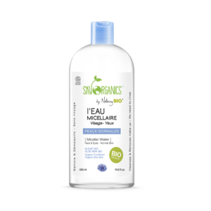 Organic Micellar Cleansing Water by Sky Organics Normal Skin -All Natural, Cruelty-Free, Vegan, Natural Makeup Remover Cleansing Tonic (530ml/18.6floz) Only certified Organic Micellar Water Available