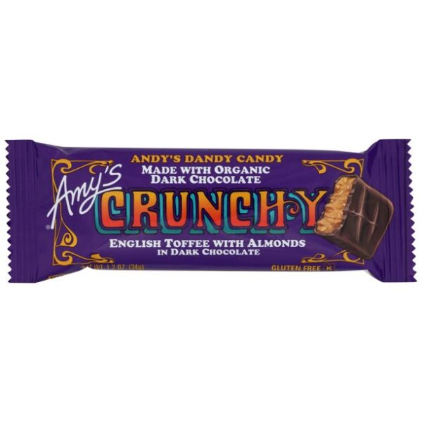 Amy's Crunchy Candy Bar, 12 Count