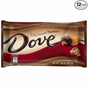 DOVE PROMISES Peanut Butter and Milk Chocolate Candy 7.94-Ounce Bag (Pack of 12)