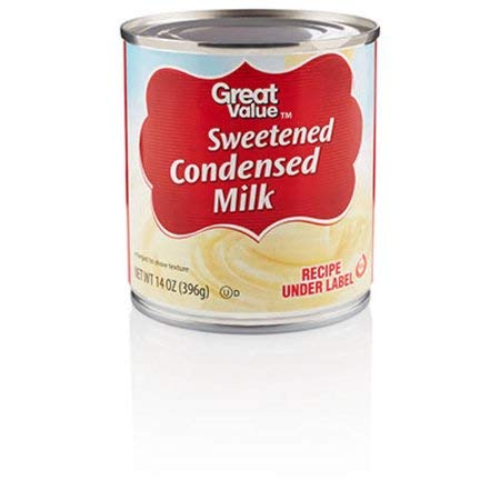 Great Value Sweetened Condensed Milk, 14 oz (10 Servings per Container) - Pack of 6