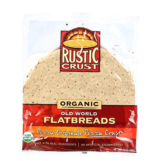 Rustic Crust Pizza Crust - Organic - Flatbreads - Pizza Originale - 13 oz - case of 8 - 95%+ Organic
