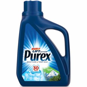 Purex Ultra Liquid Laundry Detergent in Mountain Breeze Scent - 50 Ounces, 33 Laundry Loads - Safe for HE and all Washing Machines