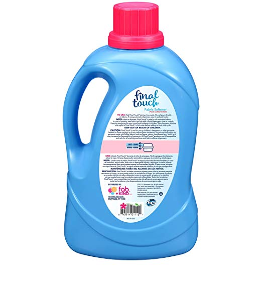 Spring Fresh Liquid Fabric Softener with WeaveShield Fabric Care Technology by Final Touch | Softens & Freshens Laundry | Works in All Standard & HE Washing Machines | 134 oz