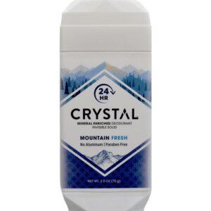 Crystal Deodorant Solid Stick 2.5 Ounce Mountain Fresh