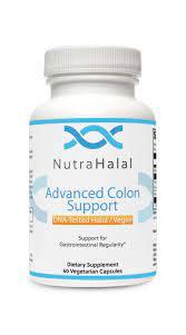 NutraHalal Advanced Colon Support - Halal DNA Tested Vegetarian Formula - Gluten Free - Supports Natural Detoxification