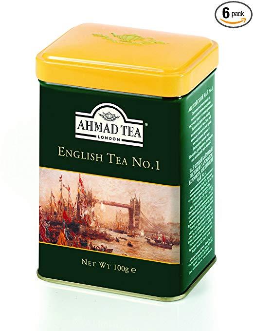 Ahmad Tea English Tea No. 1, 3.5-Ounce Tins (Pack of 6)