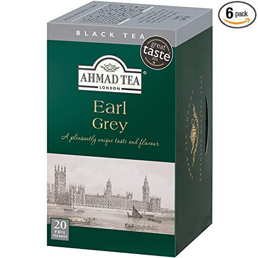 Ahmad Tea Earl Grey Tea, 20-Count Boxes (Pack of 6)