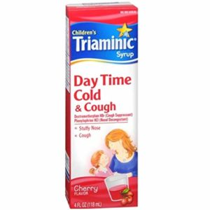 Children's Triaminic Cold & Cough Syrup - Day Time Cold & Cough Relief - Cherry Flavored - Net Wt. 4 Fl Oz