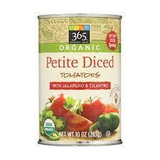 365 Everyday Value, Organic Petite Diced Tomatoes with Jalapeno & Cilantro, 10 oz