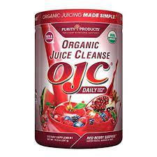 Certified Organic Juice Cleanse (OJC) - OJC Super Reds - 5 Grams Fiber, 10.5 oz (297 g)