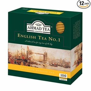 Ahmad Tea English Tea Teabag, Enveloped, 100 Count (Pack of 12)