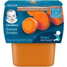 8 twin Tubs of Gerber 2nd Foods Sweet Potatoes Baby Food, 4 oz. Tubs, totaling 16 indivdual tubs