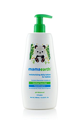 Mamaearth Moisturizing Baby Lotion with Shea Butter and Jojoba Oil for Babies & Kids, Made in the Himalayas- Hypoallergenic, Toxin-free, All Natural with Organic Ingredients