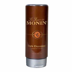 Monin - Gourmet Dark Chocolate Sauce, Velvety and Rich, Great for Desserts, Coffee, and Snacks, Gluten-Free, Vegan, Non-GMO (12 Ounce)