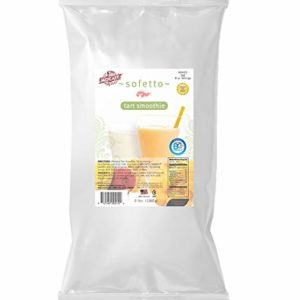 MOCAFE Sofetto Tart Smoothie, 3-Pound Bag Real Yogurt Smoothie Powder Fat Free Kosher & Halal Probiotic Makes 34 Servings Instant Smoothie Mix, Coffee House Style Blended Drink Used in Coffee Shops