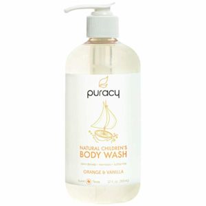 Puracy Natural Children's Body Wash, Tear-Free Kid's Soap, Sulfate-Free, Orange & Vanilla, 12 oz