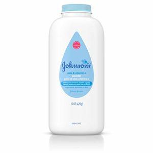 Johnson's Baby Powder with Naturally Derived Cornstarch Aloe & Vitamin E, Hypoallergenic, 15 oz