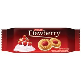 Dewberry Thai Cookies Filled with Cream and Strawberry Jam 40g.x2pcs