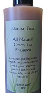 Natural First Green Tea Clarifying Shampoo for Oily Hair - Chemical, Sls, Paraben Free