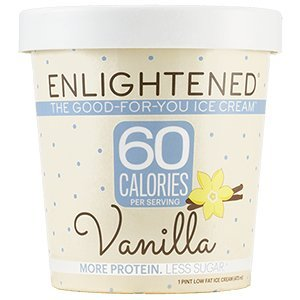 Enlightened - The Good For You Ice Cream, High Protein-Low Sugar-High Fiber-Low Fat, Vanilla, Pint (8 Count)