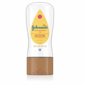 Johnson's Baby Oil Gel Enriched With Shea and Cocoa Butter, Great for Baby Massage, 6.5 fl. oz