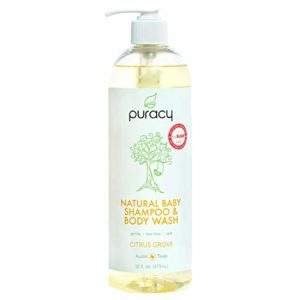 Puracy Natural Baby Shampoo & Body Wash, Tear-Free, Hypoallergenic, Sulfate-Free, 16 Ounce